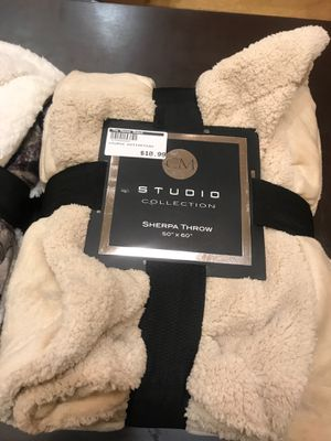 What a deal ! Sherpa Throw Studio Collection Blanket Only $10.99!!! @ the House Depot in Pasadena 📍 for Sale in Pasadena, CA