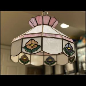 Vintage Tiffany Style Stained Glass Chandelier for Sale in Alexandria, VA
