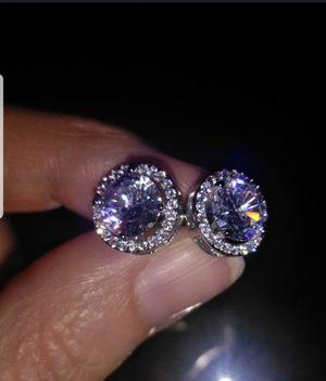 Stub Earring white Diamond 1.25 CT Round Moissanite . for Sale in Dallas, TX
