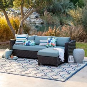 BRAND NEW......n-the-box all-weather patio sofa sectional includes plush cushions for Sale in Boca Raton, FL