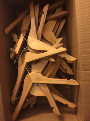 31 WOODEN HANGARS FOR CHILDREN'S CLOTHES for Sale in Brookline, MA