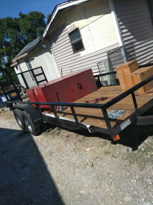 7 by 18 utility trailer with ramp for Sale in Dallas, TX