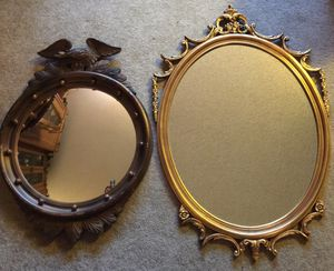 FRENCH ROCOCO GOLD GILT & FEDERAL AMERICAN EAGLE BULLSEYE MIRRORS for Sale in Edmonds, WA