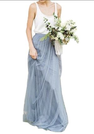 Dusty Blue Tulle Maxi Skirt for Sale in Silver Spring, MD