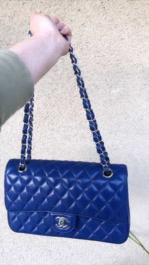 Chanel Classic Authentic Quilted Caviar Double Blue for Sale in Los Angeles, CA