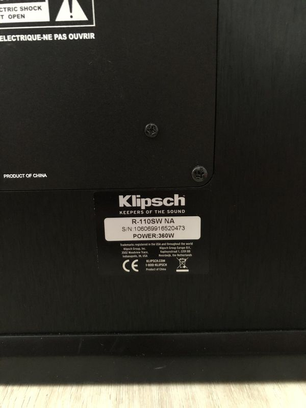 Klipsch R-110SW Subwoofer with FREE wireless adapter!!