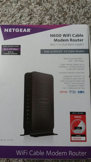 NETGEAR N600 WiFi Cable Modem Router for Sale in Chandler, AZ
