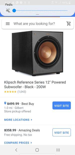 Klipsch digital subwoofer for Sale in Mesa, AZ