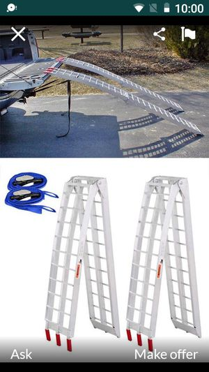 Brand new Heavy Duty 7.5 aluminum ramps for $90 for Sale in Anaheim, CA