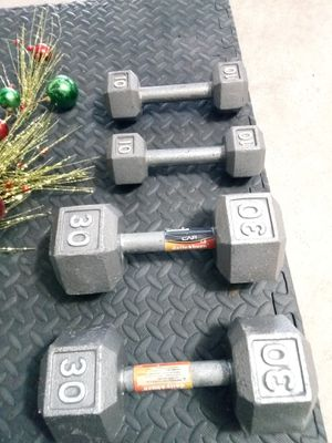 Dumbbells: 80lbs total (excellent condition) for Sale in Katy, TX