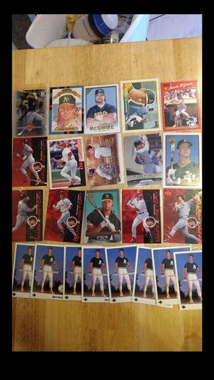 Mark McGwire baseball cards All for $25 for Sale in Clarksville, IN