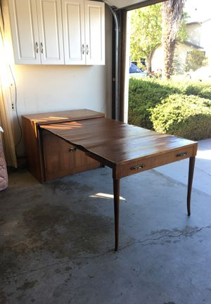 Antique Saginaw sideboard Buffet Console Cabinet with Hidden Table for Sale in San Mateo, CA