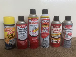Automotive Chemicals. 6 Count. Assorted varieties. for Sale in Temple City, CA