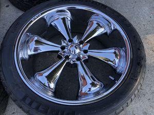 "24"" oasis titan wheels rims & tires asanti lexani dub Giovanna Escalade Yukon for Sale in Los Angeles, CA"