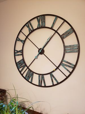 48in diameter large metal wall clock for Sale in Washington, DC
