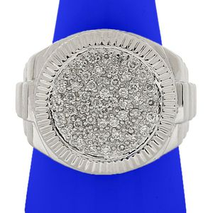 10266 MENS WHITE GOLD DIAMOND RING 0.35CT 9.00GRAMS WEDDING BAND for Sale in Los Angeles, CA