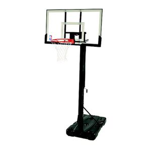 """Spalding NBA Portable Basketball Hoop with 54"""" Polycarbonate Backboard for Sale in Austin, TX"""