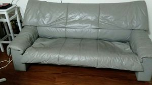 Grey Leather couch and love seat also for Sale in Hemet, CA
