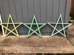 Set of 3 decorative stars for Sale in Molalla, OR