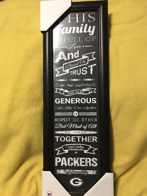 We Are A Packers Family Green Bay Packers Wall Hanging for Sale in Sioux Falls, SD