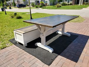 Custom farmhouse tables built to size and style for Sale in Palmetto, FL