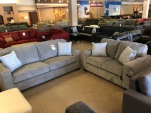 Light Grey Boxy Sofa and Loveseat for Sale in Phoenix, AZ