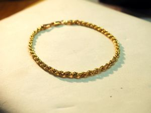 14k yellow gold rope bracelet for Sale in Pittsburgh, PA