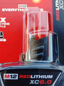 M12 Red Lithium C 6.0 Battery for Sale in Yakima,  WA