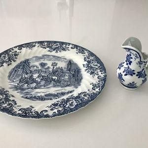 """JOHNSON BROS antique 9 1/2"""" plate w a small creamer. for Sale in Newport Beach, CA"""
