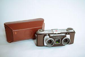 Vintage Kodak Stereo Camera & Field Case Double Shutter Anaston Lens 35mm f/3.5 for Sale in Seattle, WA