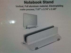 Aluminum Vertical Laptop Stand (For MacBook Air, MacBook Pro, Notebooks, etc.) for sale for Sale in Los Angeles, CA