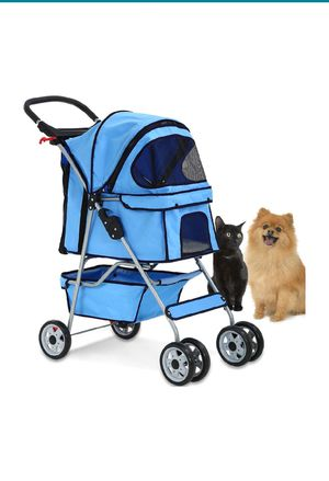 Blue Dog Stroller with Water Bottle Holder for Sale in Miami Gardens, FL