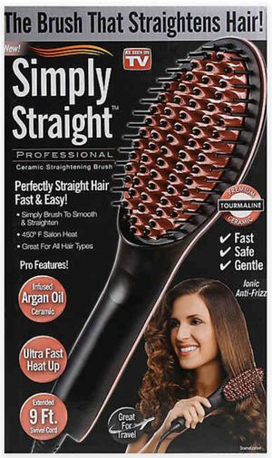 Simply Straight Ceramic Straightening Brush for Sale in Hillsboro, OR