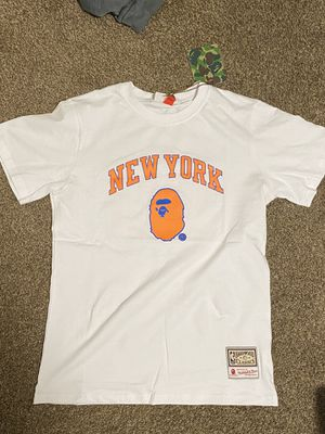 Bape X Mitchell & Ness Knicks shirt for Sale in Fresno, CA
