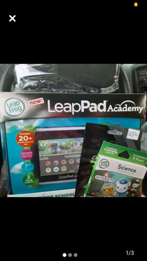 Leap Frog LeapPad kids edu tablet brand new hard case games and screen protector pk for Sale in Denver, CO