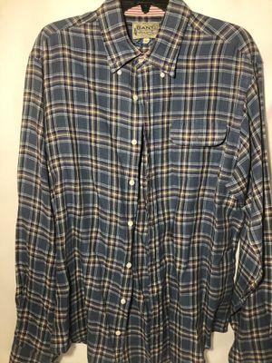 GANT Michael Bastian Mens Button Down Shirt Tan Blue Plaid Long Sleeve Sz XL for Sale in Atlanta, GA