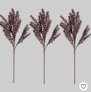 3 pk decorative purple faux plant/flowers for Sale in Arlington, MA