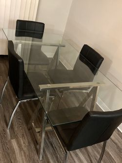 Mid Century Glass Dining Room Table for Sale in Lynnwood,  WA