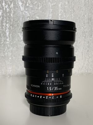 Rokinon 35mm 1.5 Cine Lens for Canon EF for Sale in Portland, OR