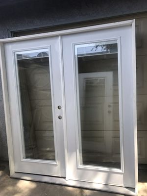 New patio French doors w / blinds or without for Sale in San Bernardino, CA