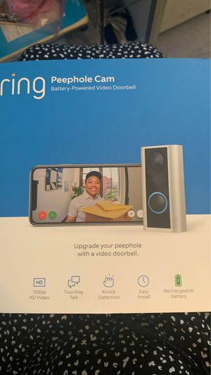 Ring peephole camera for Sale in Columbus, OH