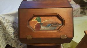 Vintage duck front solid wood bread box for Sale in Harrisonburg, VA