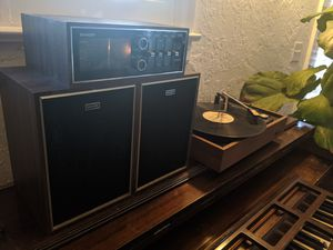 RARE VINTAGE Sharp record player / turntable, stereo, & speaker package for Sale in Phoenix, AZ