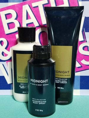 💙 Bath & Body Works 💙 MENS MIDNIGHT 3pc. SET 💙$22 to Ship / $20 Pickup 💙 Gifts for all OCCASIONS! for Sale in Pomona, CA