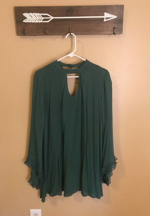 Small jewel green tunic dress for Sale in Cleveland, OH