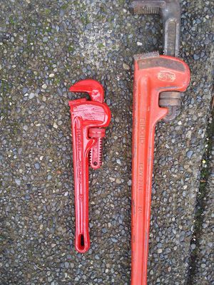 Pipe wrench for Sale in Milton, WA
