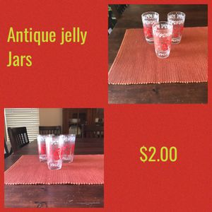 Three antique jelly jars for Sale in Payson, AZ