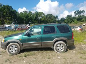 Parting out 2003 Mazda Tribute V6 automatic good transmission bed engine parts for Sale in Houston, TX