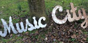 """Recycled Metal Artwork 10""""h Music City Sign - Wall Decor, Word, Letter for Sale in Oak Hill, TN"""