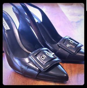 Alfani Arden Black Leather Buckle Pumps Sz8.5 for Sale in Leavenworth, WA